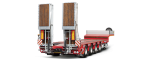 Low loader trailers and semi-trailers