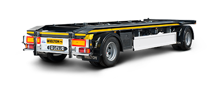 Trailers for roller containers